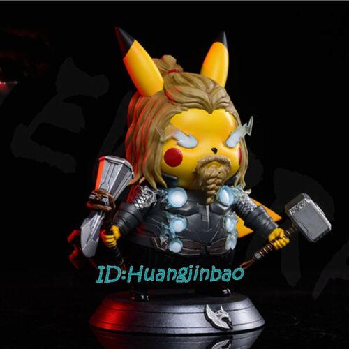 Pikachu Cos The Avenger Thor Resin Model Statue Painted NEWBRA 19cm In Stock New