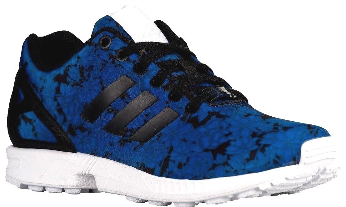 b82daf9284a ... Size 7 ADIDAS BLUE BLACK FLORAL ORIGINALS ZX FLUX WOMEN S  ATHLETIC CASUAL ATHLETIC  ...
