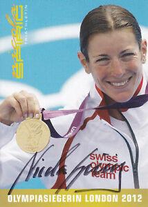 Nicola SPIRIG - Schweiz, Gold Olympia 2012 Triathlon, Original-Autogramm!