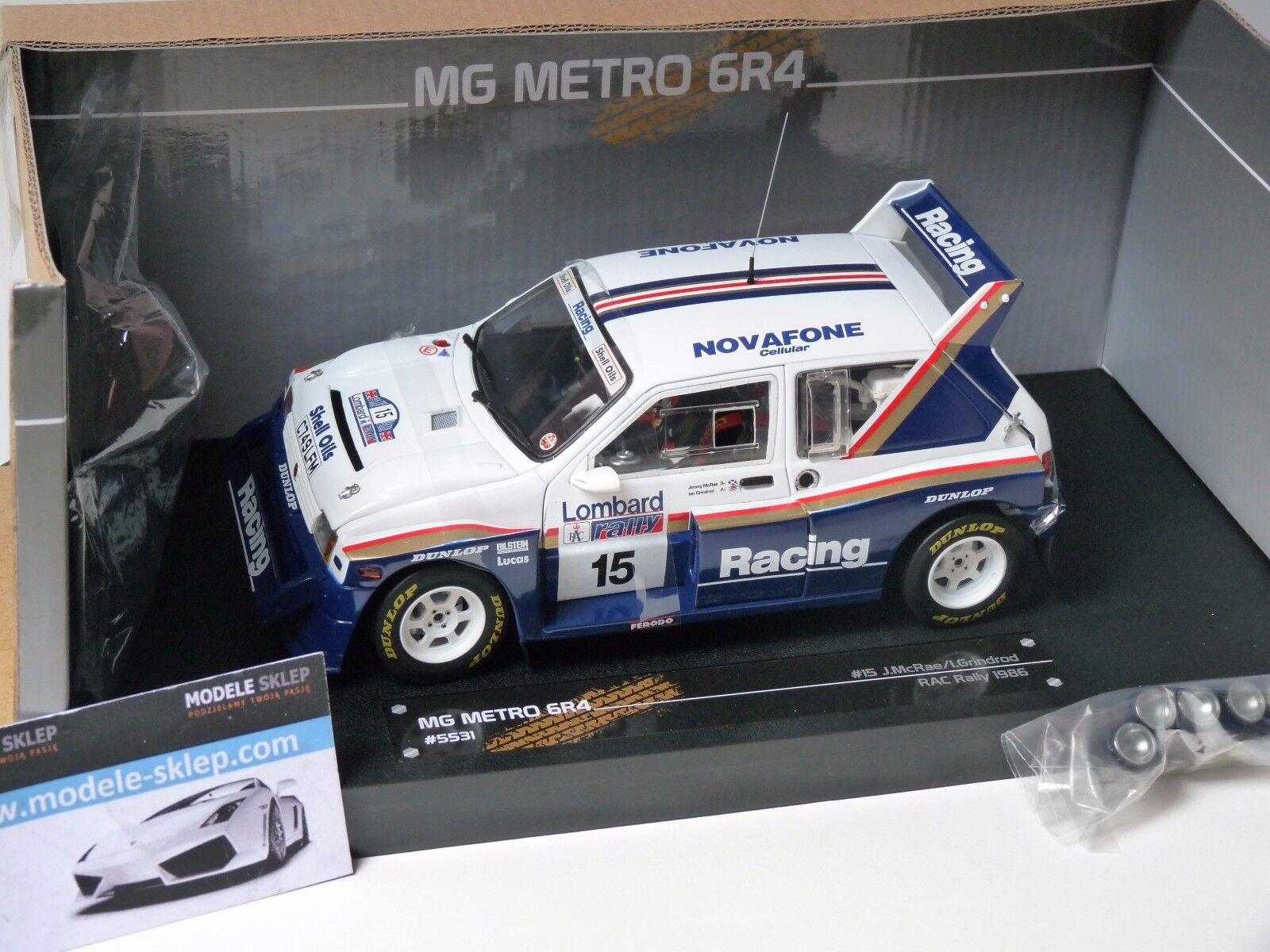 Jimmy Mc Rae Rally Rac 2018 MG Metro Sun Star Modelo Nuevo