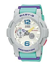 Casio Baby-G * BGA180-3B Anadigi GLide Purple & Mint Women COD PayPal