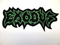 Exodus Green Logo Embroidered Back Patch