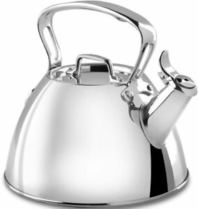 NEW ALL-CLAD 2 QT.  Stainless Steel TEAKETTLE-ship free
