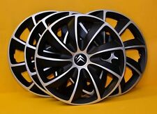 "CITROEN SET OF 4 x 16 INCH ALLOY LOOK CAR WHEEL TRIMS/COVERS 16"" HUB CAPS"