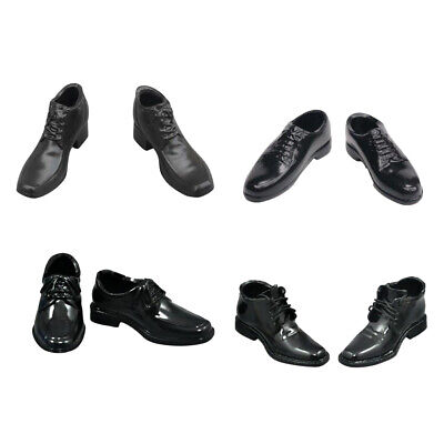 """1//6 Scale Men Women Black /& White Leather Casual Shoes for 12/"""" Action Figure"""