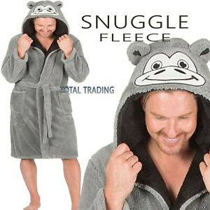 MENS-DRESSING-GOWNS-hooded-ROBES-MONKEY-ape-snuggle-cosy-warm-winter