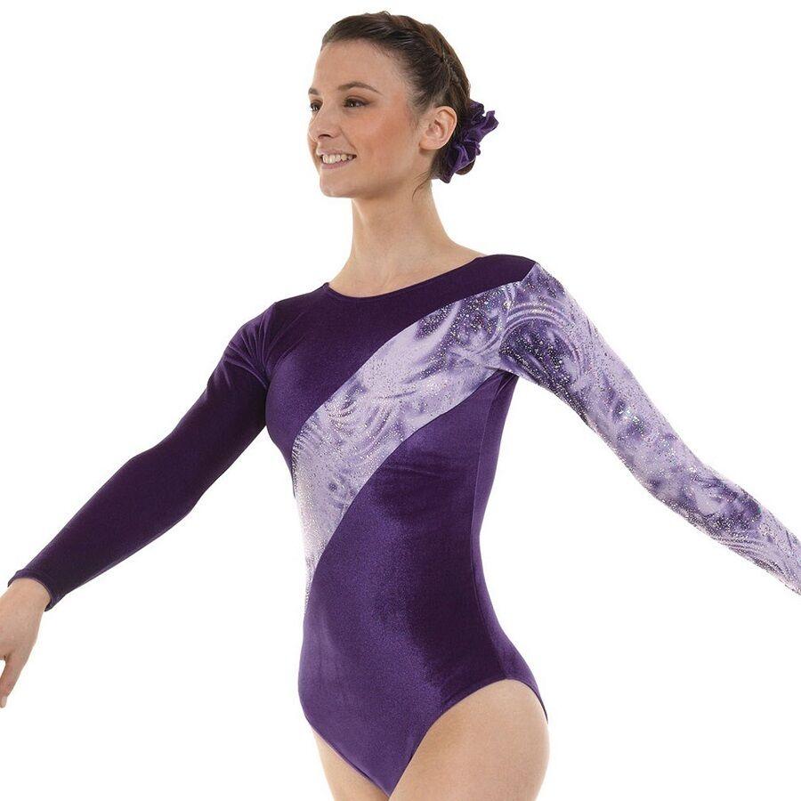 Purple Lycra High Shine Girls Gymnastics Leotard Gym Dancewear Age 4-12 Gym 7