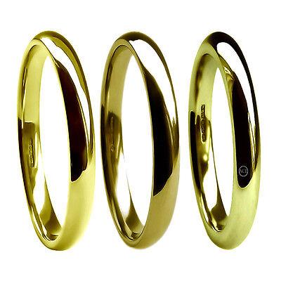 6mm 9ct Gelbgold Flache Pumps Hochzeit Ringe Profil Extra Schwer Band 375 UK Hm