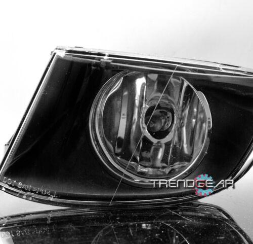 2007-2011 BMW E92 E93 3 SERIES 2DR FRONT BUMPER FOG LIGHTS LAMP BLACK CLEAR LENS