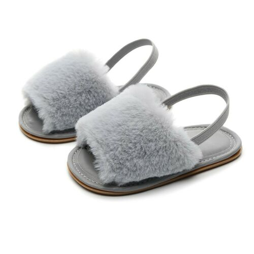 Toddler Infant Shoes Baby Girl/&Boy Solid Flock Soft Sandals Slipper Casual Shoes