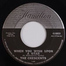 THE CRESCENTS: When You Wish Upon A Star / Hey There HAMILTON Doo Wop 45