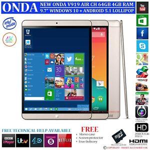 Nouveau-Onda-V919-Air-Ch-4-Go-RAM-64gb-Intel-Dual-OS-Windows-10-Android-5-1