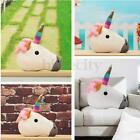 Unicorn Pillow Cushion Cartoon Emoji Smiley Soft Rainbow Home Decor Kids Gift