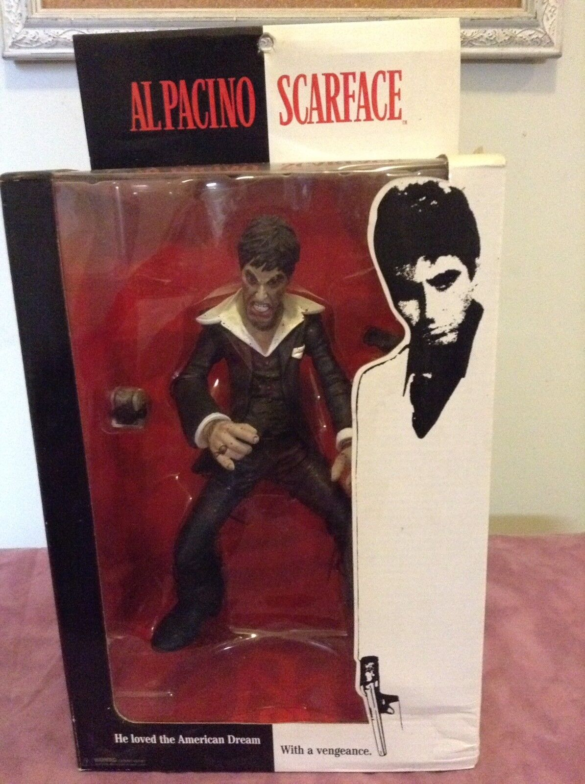Mezco scarface al pacino 10  action figure the player bloody