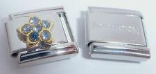 STAR BLUE GEMS 9mm Italian Charm & 1 x Genuine Nomination Classic Bracelet Link