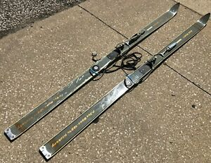 Vintage-71-034-Gold-Medal-100-Hickory-Wood-P-Tex-Base-6032-Downhill-Snow-Skis