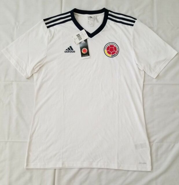 fc893bfd0fb Mens Size Large White Blue Adidas Columbia Replica Home Soccer Tee AC2844