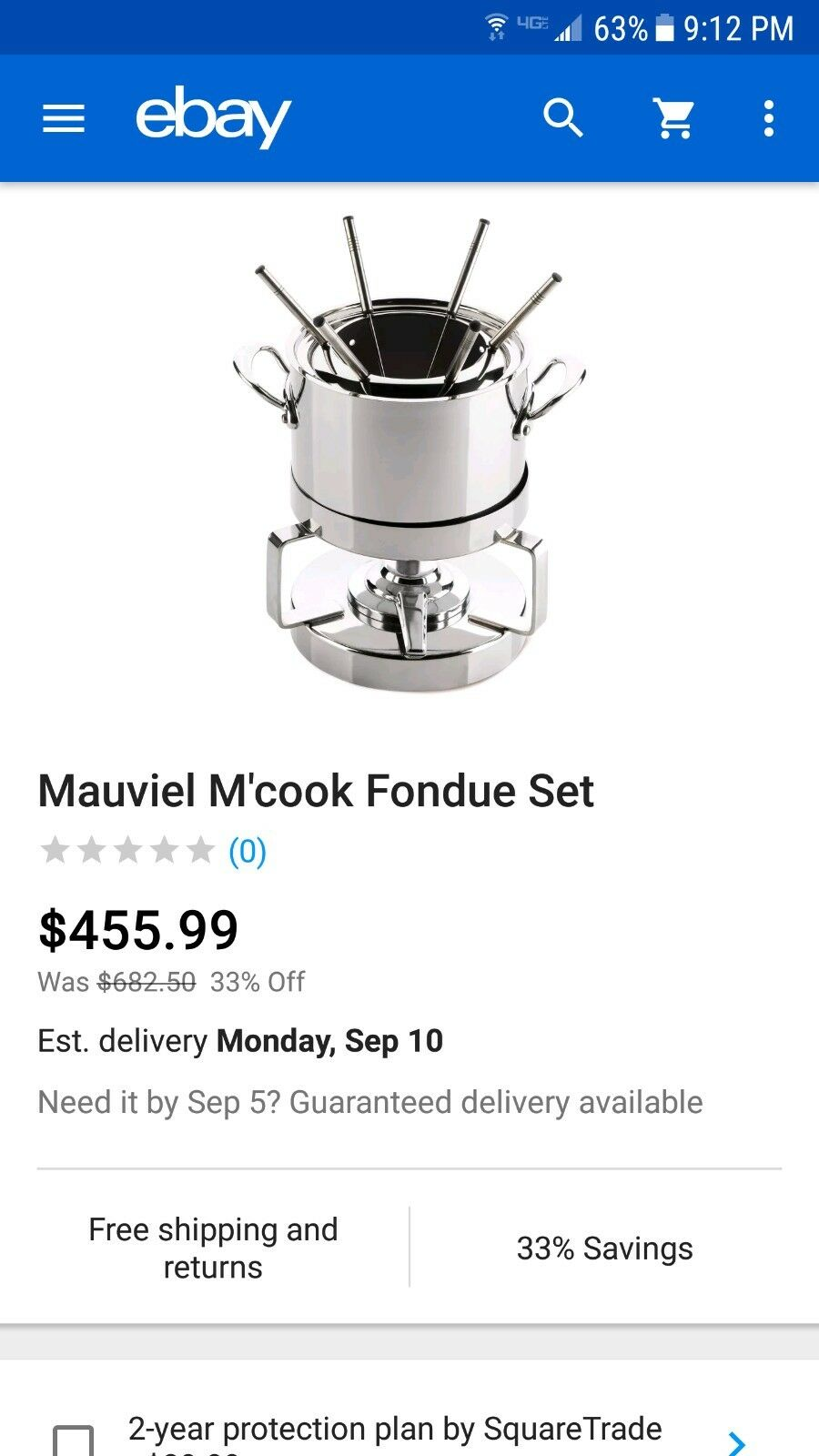 Mauviel M'cook Brand New Never Opened Fondue Set Stainless Steel