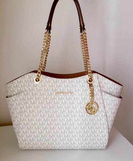 24850df0f54c2d Michael Kors Bag / Bag Jet Set Travel Lg Chain Tote Bag Signature Vanilla