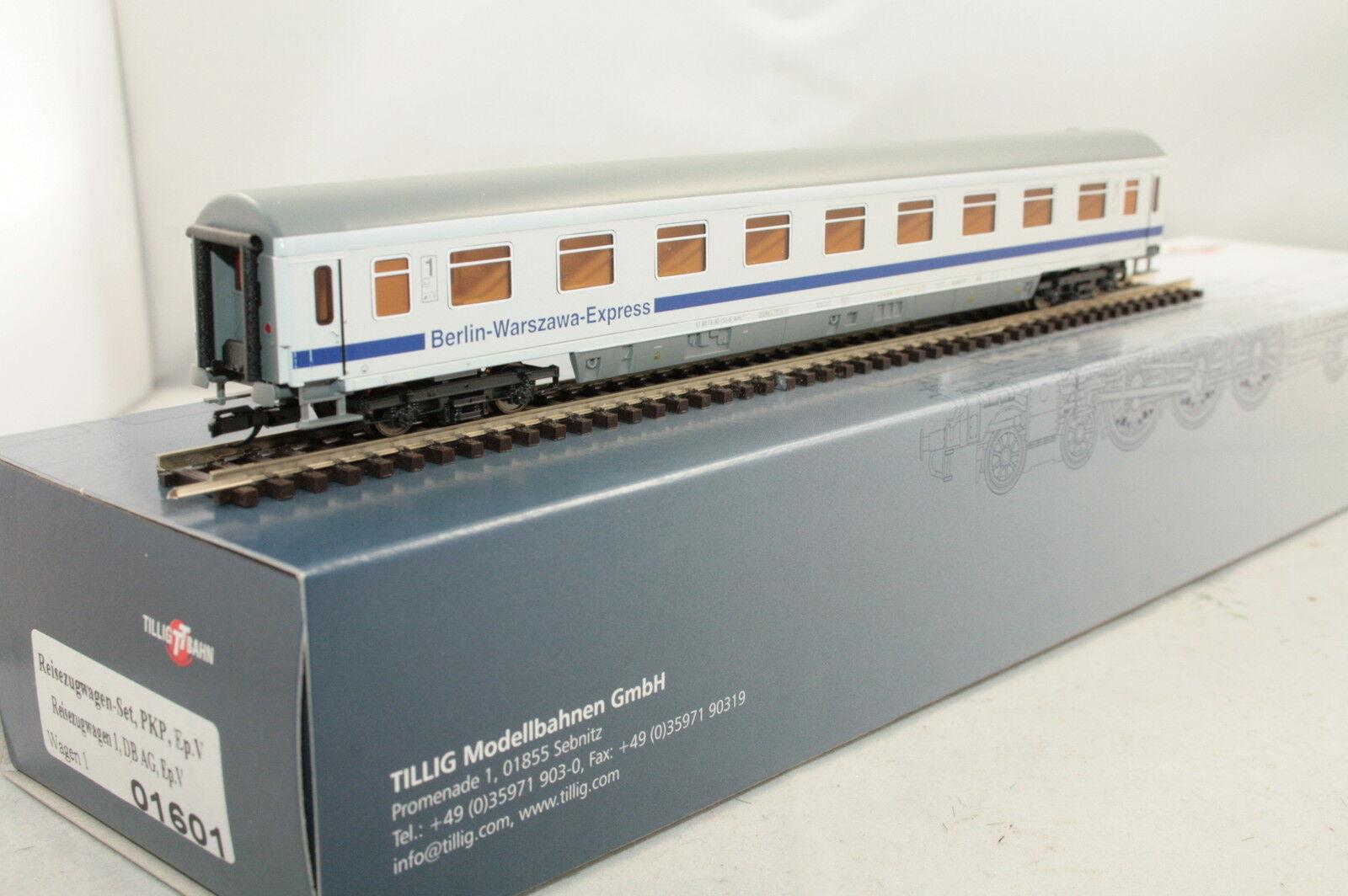 Tillig TT 01601-1 01601-1 01601-1 DB PKPe treno rapido auto 1. classee  Berlin-Guerraszawa  Nuovo Scatola Originale 4ab44e