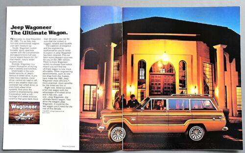 "ORIGINAL 1981 JEEP WAGONEER SALES BROCHURE ~ 10 PAGES ~ 9.5/"" X 11/"" ~ 81JPWAG"