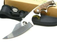 Elk Ridge Brown Wood Straight Full Tang Blade Hunting Knife + Sheath Er-534