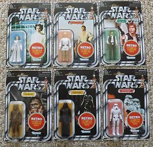 Nouveau Star Wars Wave 1 Collection rétro, ensemble exclusif de 6 Han Luke Leia