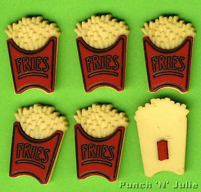 FRIES - French Potato Chips Junk Food Novelty Dress It Up Craft Embellishments