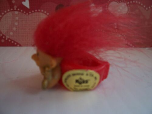Russ Troll Doll VALENTINE CUPID RING Red Hair NEW