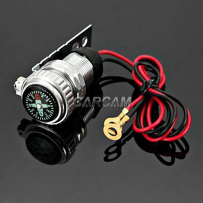 Bike S USB Charger Compass For Harley Sportster Nightster Roadster 1200