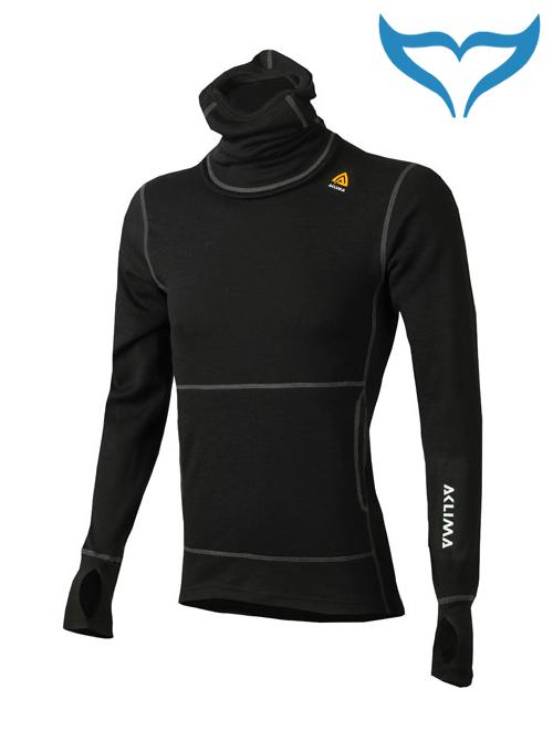 Aclima Warmwool Hood Sweater schwarz schwarz Merino Wool 200g XL XXL Kapuze NEU
