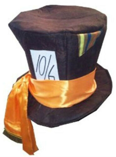 Vestido de fantasía País De Las Maravillas Estilo Fiesta 10//6 Top Hat /& Corbata De Moño Sombrerero Loco Semana Libro