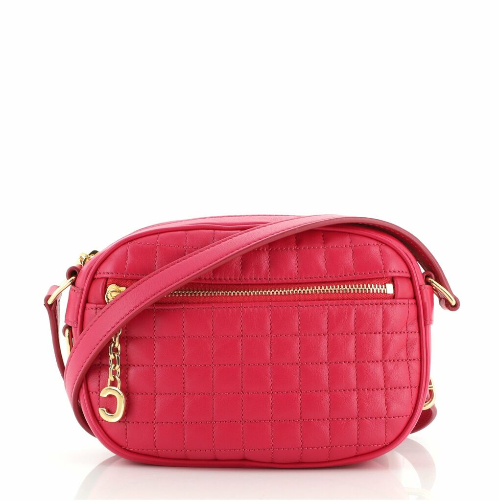 Celine C Charm Camera Bag Quilted Leather Small  | eBay
