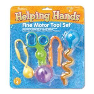 Ressources D'apprentissage-helping Hands Motrice Fine Tool Set-afficher Le Titre D'origine Un BoîTier En Plastique Est Compartimenté Pour Un Stockage En Toute SéCurité