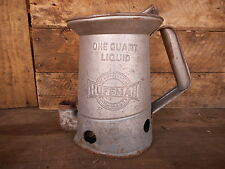 Vintage Huffman Oil Can One Quart Liquid Huffy Service Station Ohio Shop Collect