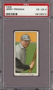 1909-11 T206 Jerry Freeman Sweet Caporal 350 Toledo Minor League PSA 4 VG - EX