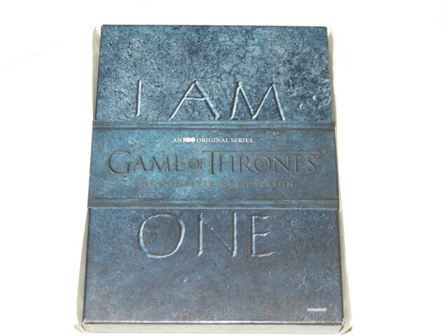 Game of Thrones The Complete Sixth Season I Am No One DVD 2016 5-Disc Set