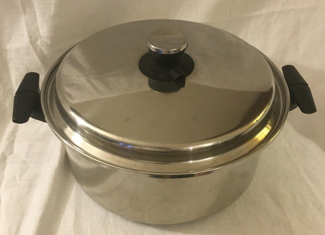 Revere Ware Stainless Steel Replacement Lid 5-1//2 6,7,8,9,10,12 very good cond.