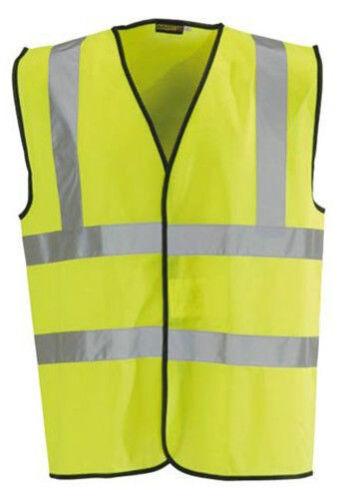 Yellow Hi Vis Vest High Viz Visibility Safety Waistcoat Multi Pack Or Single