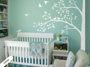 Image Is Loading White Tree Wall Decal Corner Decals