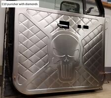 73-87 Chevy GMC C10 aluminum door panels, custom bead rolled PREMIUM design