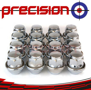16-Chrome-Wheel-Nuts-for-Ford-Mondeo-Mk1-Mark-I-with-Genuine-Alloys