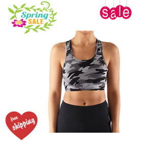 676f1458c7d Women's Fashionable Camo Yoga Sports Bra Casual Crop Top Seamless ...