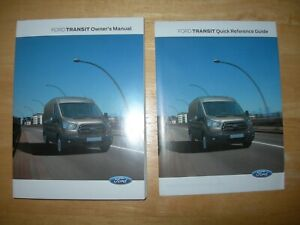 FORD TRANSIT OWNERS HANDBOOK + QUICK  REFERENCE GUIDE.[NEW BOOKS] 2014 - 2019