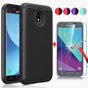 For-Samsung-Galaxy-J3-V-2018-Orbit-Star-Achieve-Aura-Hard-Case-Screen-Protector