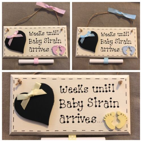 Personalised Baby Countdown Plaques Girl Boy Gender Neutral Countdown Gift