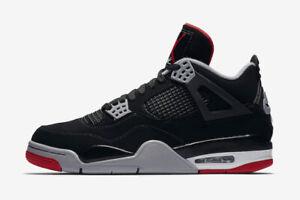 a505423a42c193 Nike Air Jordan Retro IV 4 OG Bred Black Fire Red Cement Gray White ...