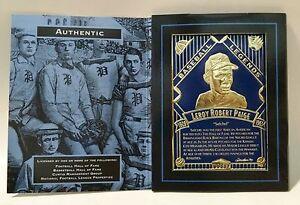 Satchel-Paige-MLB-Baseball-LEGENDARY-FOILS-3-5-034-x-5-034-Foil-Card-w-Folder