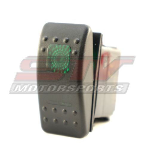 20amp Green Rocker Switch Polaris RZR XP Offroad Truck Boat 3 position 6 Pin