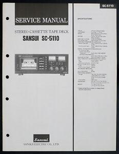 Sansui-SC-5110-original-stereo-cassette-tape-deck-service-manual-Diagram-O153